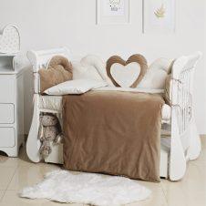 Set de pat - Twins Romantic Heart (6 buc.)